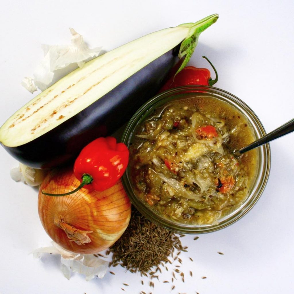 Calypso Kitchen Eggplant Choka