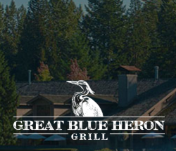 Great Blue heron grill