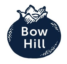 blueberry logo with Bow Hill etched
